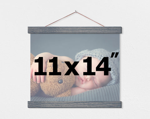 "11x14"" Landscape Orientation Custom Canvas - Hanger Frames"