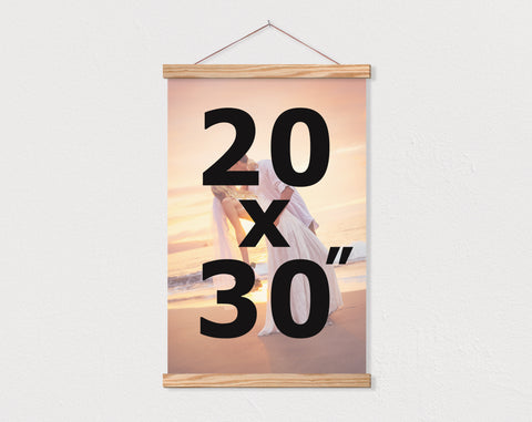 "20x30"" Portrait Orientation Custom Canvas - Hanger Frames"