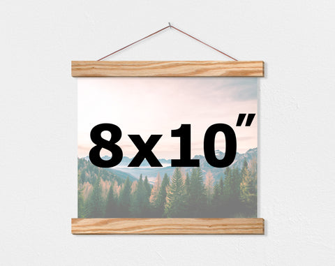 "8x10"" Landscape Orientation Custom Canvas - Hanger Frames"