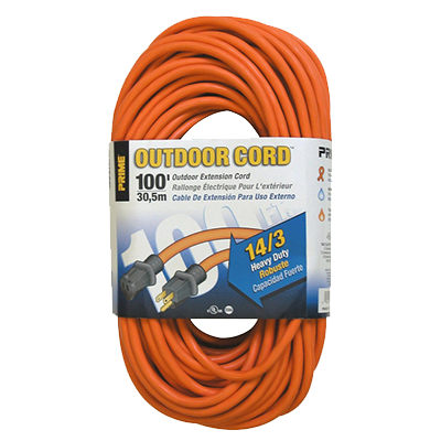 100-Foot 14/3 SJTW Heavy Duty Outdoor Extension Cord, Orange