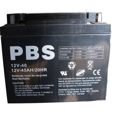 SLA BATTERY 12V-40 AH - I&M Electric