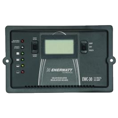 ENERWATT 30 AMP SOLAR REGULATOR with DISPLAY - I&M Electric