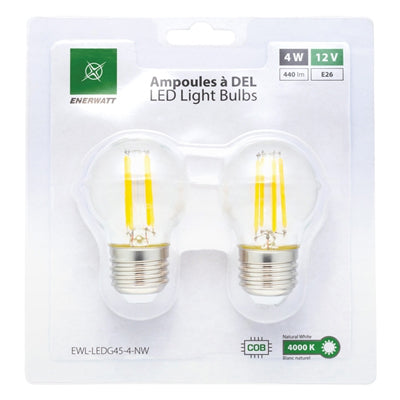 LED Light Bulbs 12V 4W Natural White - 2pk