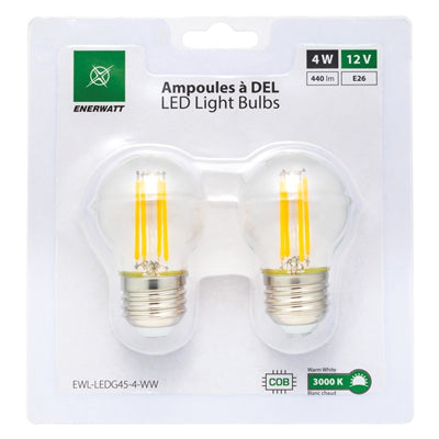 LED Light Bulbs 12V 4W Warm White - 2pk