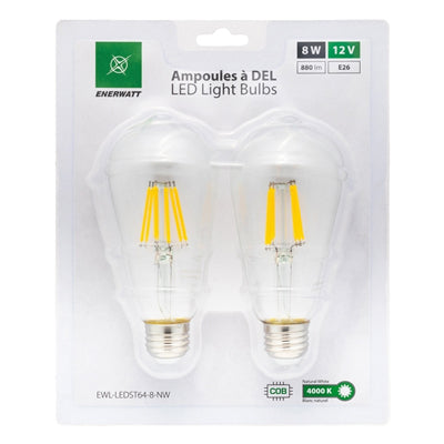 LED Light Bulbs 12V 8W Natural White - 2pk - I&M Electric