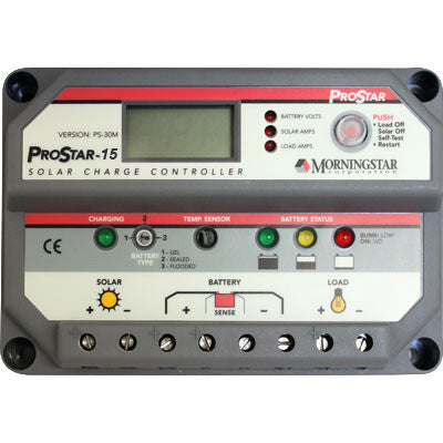 Morningstar ProStar PS-15M Controller 15 Amp with digital display - I&M Electric