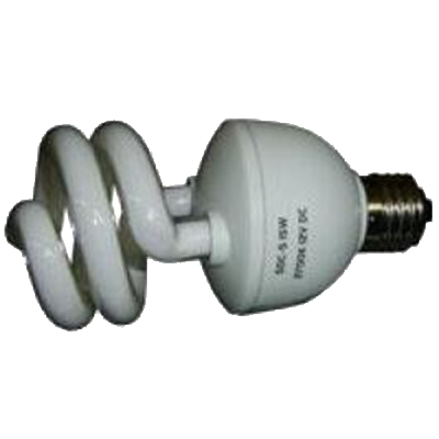 DC Bulb - REGULAR SCREW LIGHT SOCKET 12VDC 15W