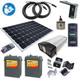 SK7 - 'Sunshine Eclipse' - 270 Watt RV Kit with batteries and inverter/charger - I&M Electric