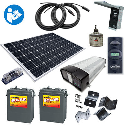'Sunshine Eclipse' - 265 Watt RV Kit with batteries and inverter/charger