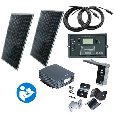 SK5 - 'Sunshine PLUS' - 300 Watt RV Kit with 1000 Watt Truesine inverter - I&M Electric