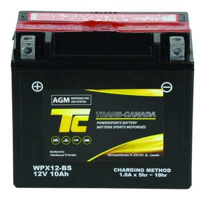 WPX12-BS ATV/Motorcycle Battery 12V 10Ah