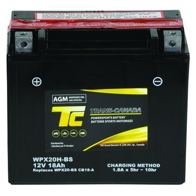 WPX20H-BS ATV/Motorcycle Battery 12V 18Ah - I&M Electric