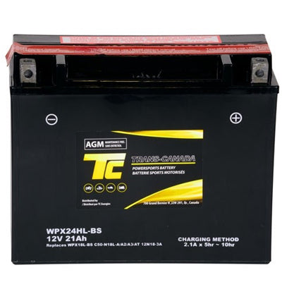 WPX24HL-BS ATV/Motorcycle Battery 12V 21Ah - I&M Electric