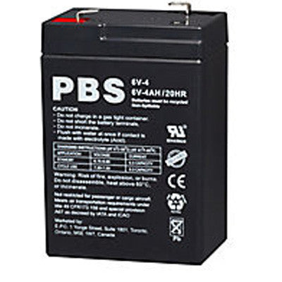 6V 4Ah Sealed Lead Acid Battery - SLA - I&M Electric