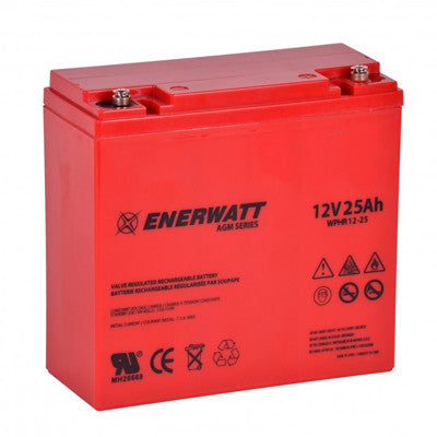 Enerwatt WPHR12-25 BATT AGM 12V 25AH/20H SEALED HIGH RATE