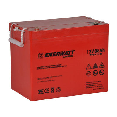 Enerwatt WPHR12-88 BATT AGM 12V 88AH HIGH RATE - I&M Electric