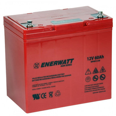 Enerwatt WPHR12-60 AGM BATTERY 12V 60A HIGH RATE - I&M Electric