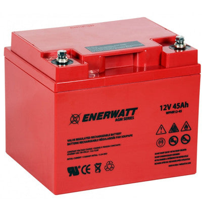 Enerwatt WPHR12-45 AGM BATTERY 12V 45AH HIGH RATE - I&M Electric