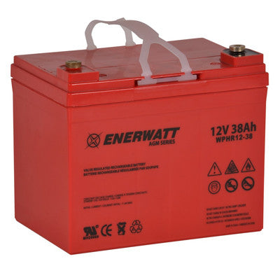 Enerwatt WPHR12-38 BATT AGM 12V 38AH HIGH RATE