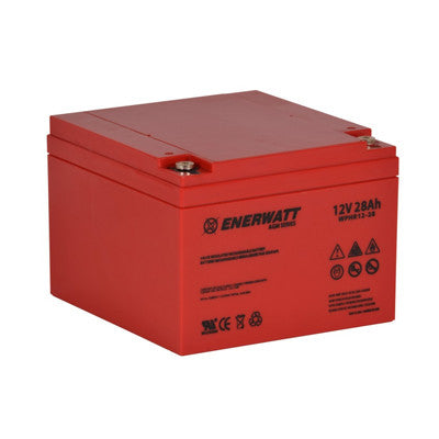 Enerwatt WPHR12-28 BATT AGM 12V 28A HIGH RATE - I&M Electric