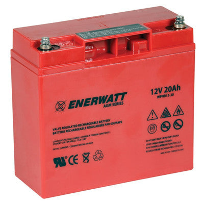 Enerwatt WPHR12-20 BATT AGM 12V 20AH HIGH RATE