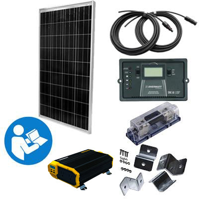 SK4 - 'High Noon Sunshine' - 150 Watt RV Kit with 1100 Watt Power Inverter - I&M Electric