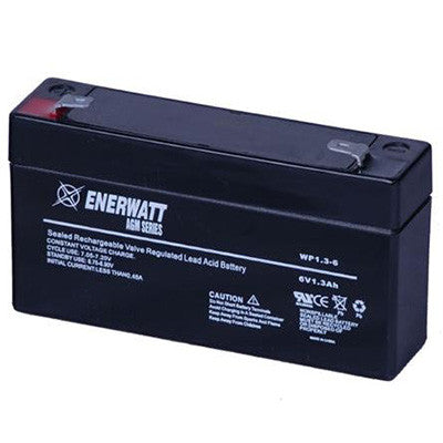Battery 1.3AH 6 volt sealed - I&M Electric