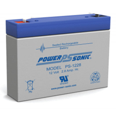 Power Sonic 12 volt 2.8AH battery - I&M Electric