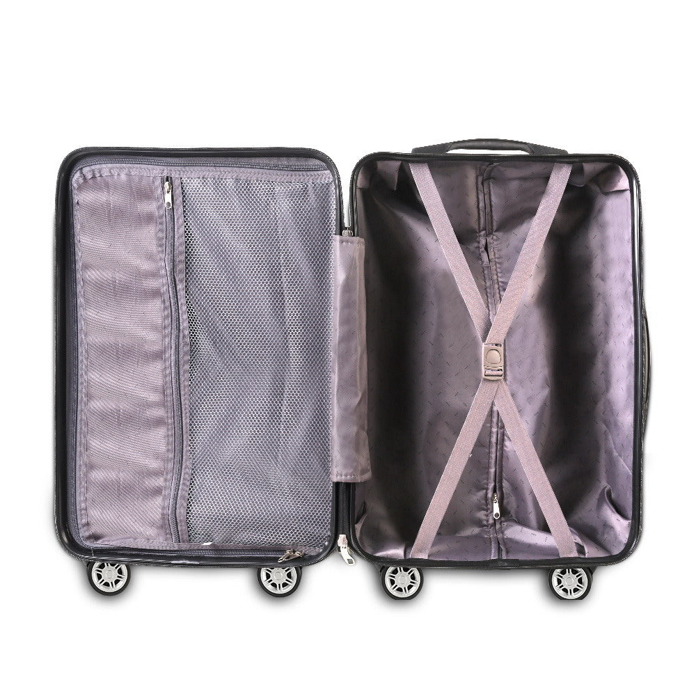 95dd4e466 ... Load image into Gallery viewer, Wanderlite 3PC Luggage Suitcase Trolley  - Black ...