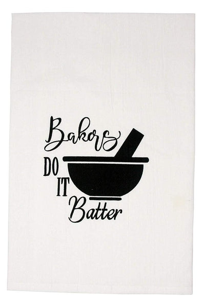 Bakers Do It Batter Flour Sack Kitchen Tea Towel
