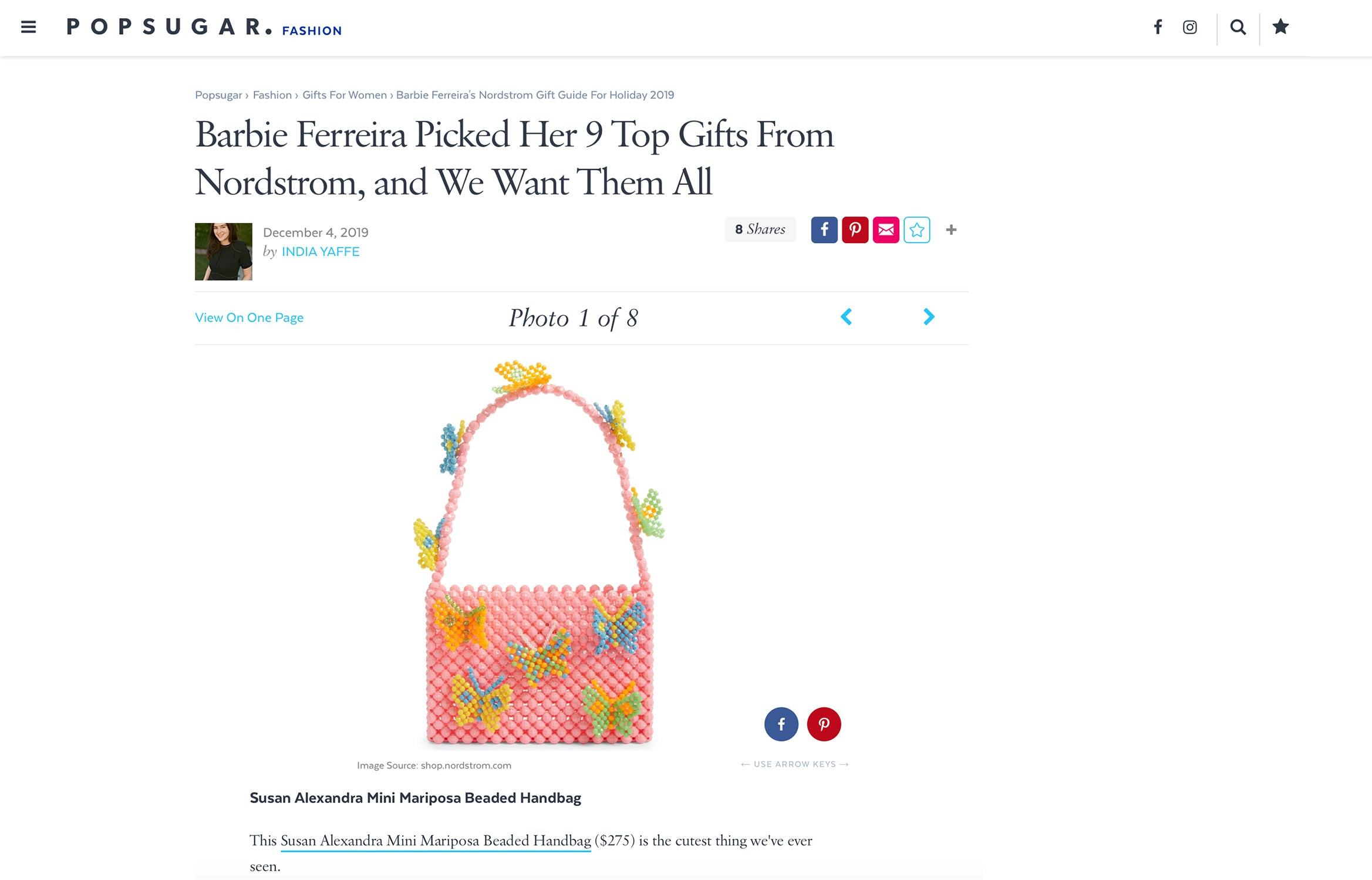 Barbie Ferreira's Gift Guide: The Mariposa Bag