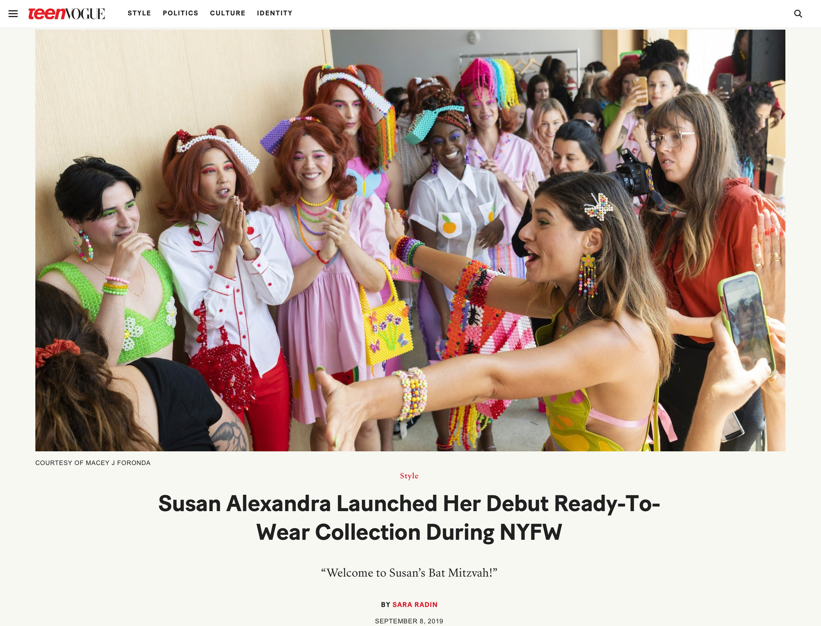 Susan Alexandra's RTW Collection in Teen Vogue