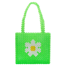 Load image into Gallery viewer, Green Daisy Bag