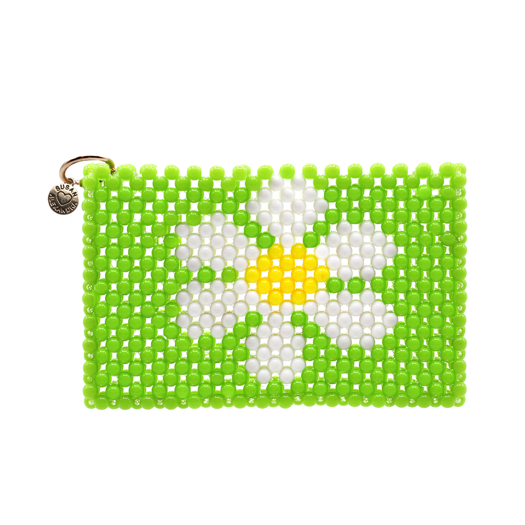 Green Daisy Card Holder
