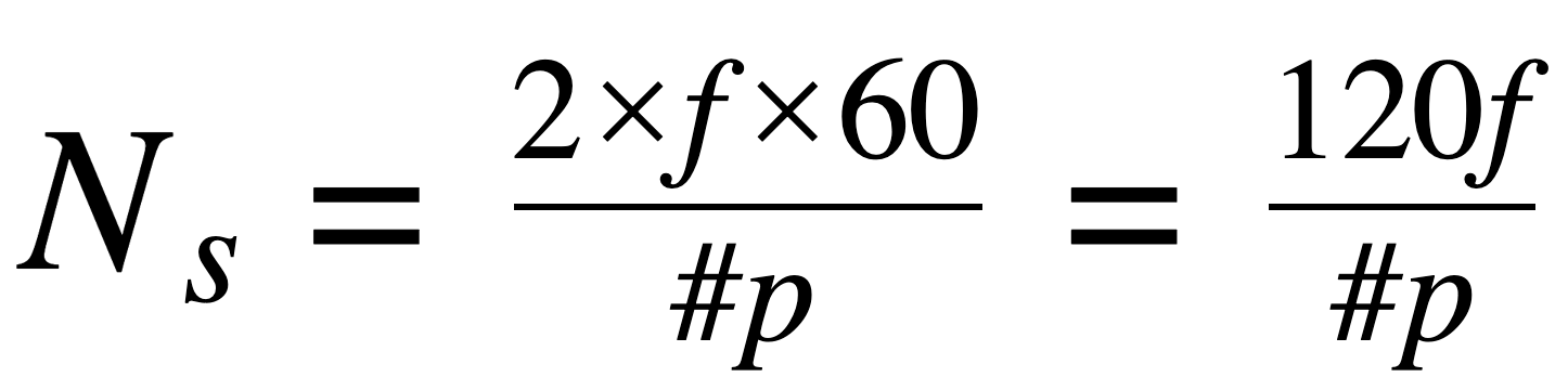 motor poles equation speed=2frequency60/poles