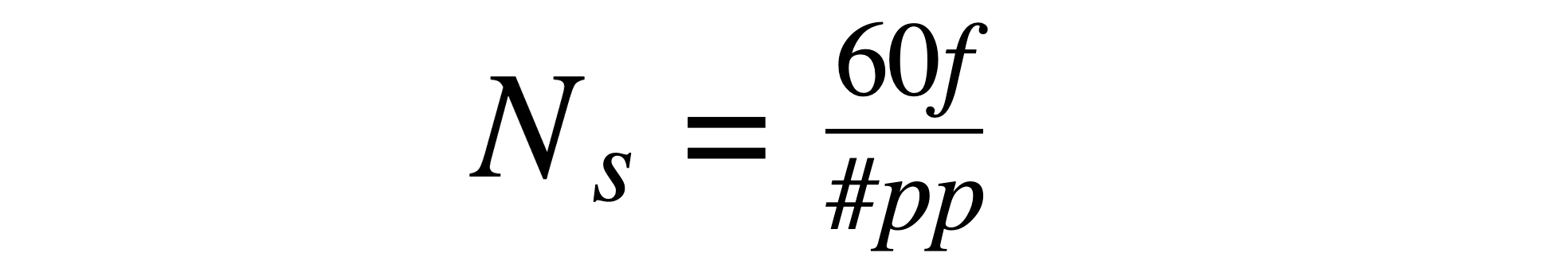 pole pair formula speed=60*frequency/ pole pairs