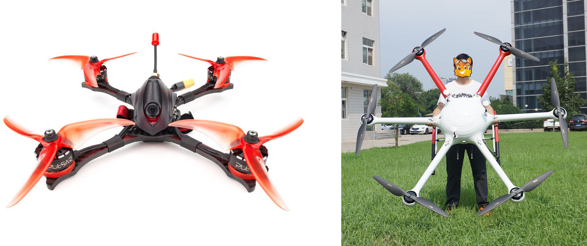 Poles in small vs. large drone motor