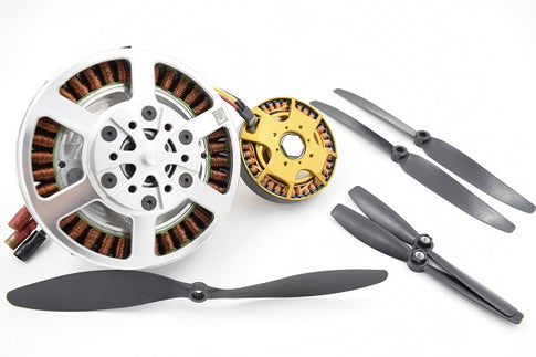 Brushless motors and propellers