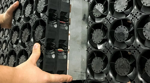 A wind module with 9 fans