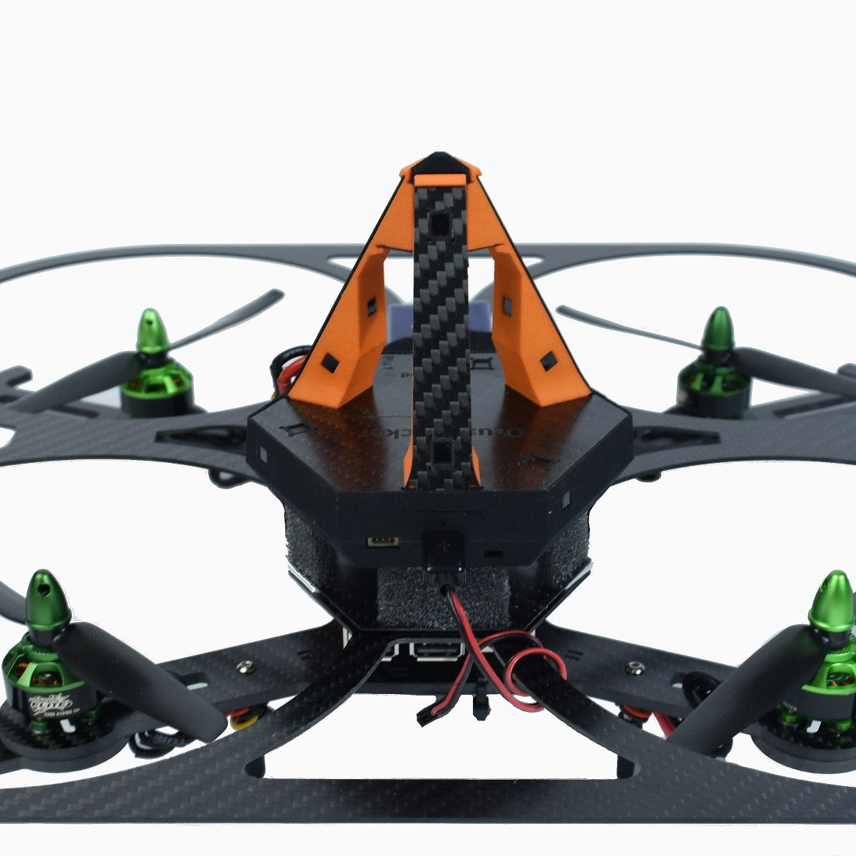 Close up of Otus tracker on quadcopter
