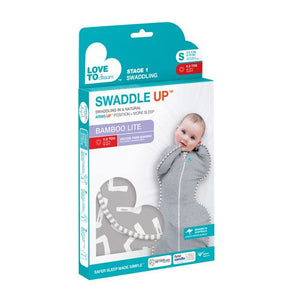 Love To Dream Swaddle up Bamboo Lite (0.2 tog) - Grey - Newborn, Small, Medium