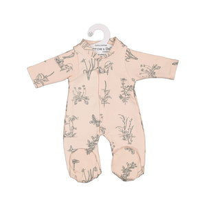 Burrow & Be Doll Clothing for 38cm Doll - Blush Meadow Sleepsuit