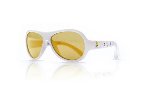 Shadez Classic Baby Sunglasses - Busy Bee White - 0-3 years