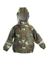 Load image into Gallery viewer, Mum2mum Rainwear Jackets - Camo - Sizes 1, 2, 3 4 years