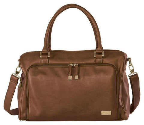 Isoki Nappy Bag - Double Zip Satchel - Redwood Chestnut