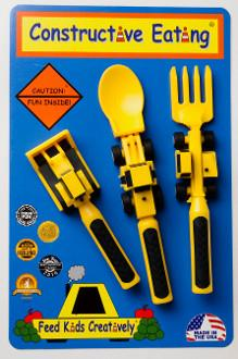 Constructive Eating Construction 3-piece Utensil Set