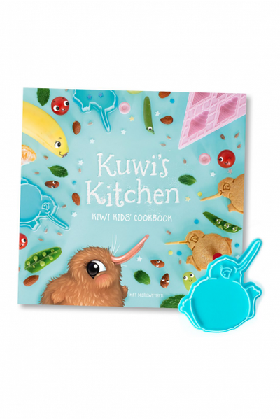 Kuwi's Kitchen (Kiwi Kids' Cookbook) with FREE Kuwi Bikkie Cutter!