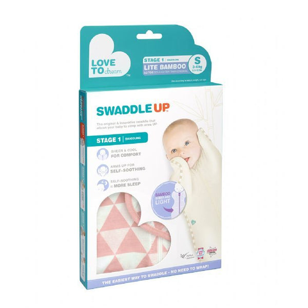 Love To Dream Swaddle up Bamboo Lite (0.2 tog) Coral - Small, Medium, Large