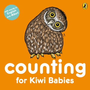 Counting for Kiwi Babies Board Book - Words in English & Maori