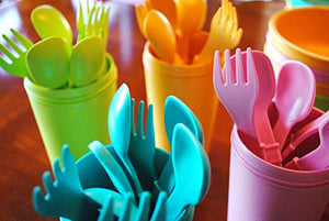 Re-Play Toddler Utensils - Forks & Spoons - Choose your colour